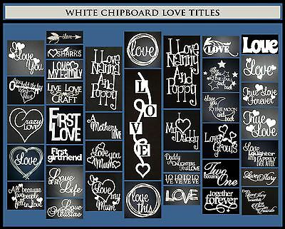 White Chipboard - Love Titles