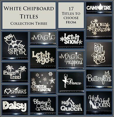 White Chipboard - Titles - Collection Three