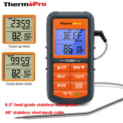 LCD Digital Meat Thermometer With Probe For Smoker Grill Food BBQ Thermometer