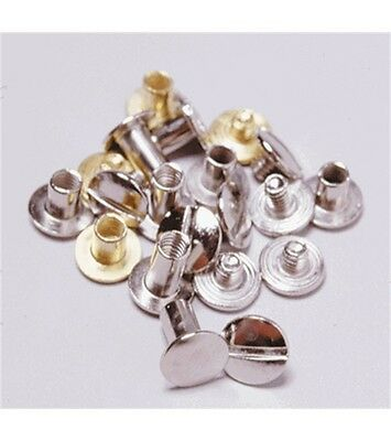 Assorted Chrome & Brass Replacement Chicago Screws For Bridle & Leather Repair