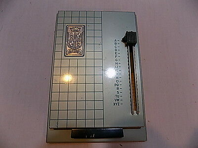 Vintage Royal All Metal Pop Up Address/Phone Index