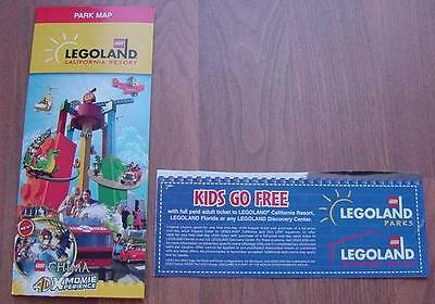 One (1) Legoland KID KIDS CHILD Go Free California or Florida Good 4/30/2019