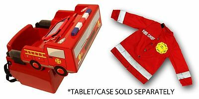 Fire Chief Booster Seat Hair Cape Barber Chair Kids Children Haircut Salon NEW