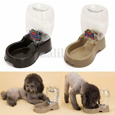Plastic Automatic Pet Dog Cat Water Dispenser Food Dish Bowl Feeder Tray 946ML