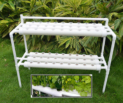 Hydroponic Site Grow Kit Ebb and Flow Deep Water Culture Garden 54 Holes Plant