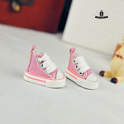 1/8 BJD Shoes Blythe Dollfie Pink Cloth Boots DIM DOD AOD LUTS MID Tiny Sneakers