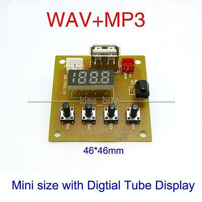 Digital led 5V MP3 KIT WAV MP3 Player Audio Decoding Decoder Module Board w usb