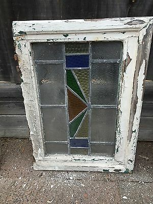 Antique Old English Leaded  Stained Glass Window #25