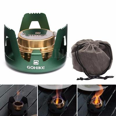 Spirit Burner Alcohol Stove Outdoor Backpacking Camping Furnace with Stand New
