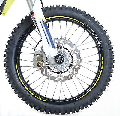"""YELLOW Motorcycle Rim Tape for 17"""" Wheels Yamaha Tricity 125 2016 R&G Racing"""