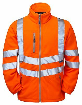 Pulsarail Hi Vis Orange PR508 Interactive Polar Fleece