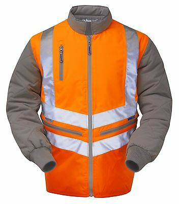 Pulsarail Orange Hi Vis PR498 Interactive Body Warmer