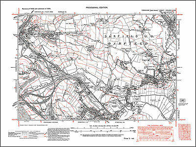 Stairfoot, Ardsley, Wombwell N, Darfield, old map Yorkshire 1938: 275SW repro