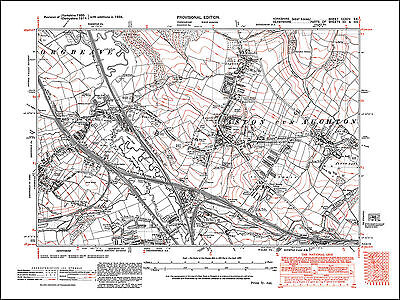 Aston, Aughton, Woodhouse Mill, old map Yorkshire 1938: 295SE repro