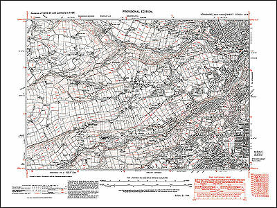 Sheffield Crookes, Stannington, old map Yorkshire 1938: 294NW repro
