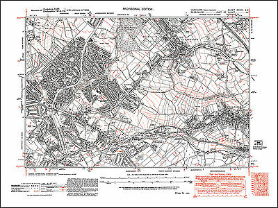 Badsworth 263NE repro Hemsworth old map Yorkshire 1938