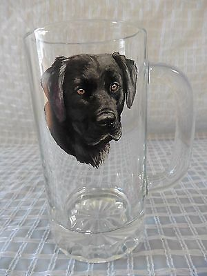 BLACK LAB Labrador Dog Glass Mug Weighted Bottom by Angler's Expressions