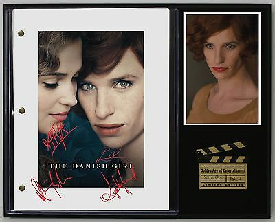 The Danish Girl - Reprinted Autograph Movie Script Display - USA Ships Free