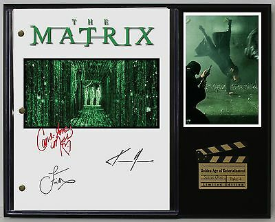 The Matrix - Reprinted Autograph Movie Script Display - USA Ships Free Priority