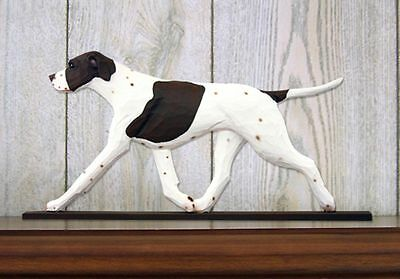 English Pointer Figurine Sign Plaque Display Wall Decoration Liver/White