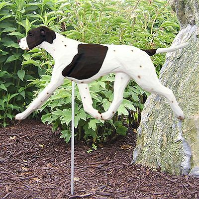 English Pointer Outdoor Garden Sign Hand Painted Figure Liver/White