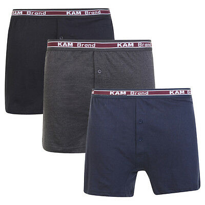 Mens 3 Pack Boxer Shorts 100% Combed Cotton Underwear Classic S M L XL XXL