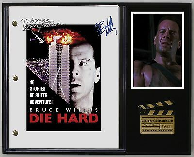 Die Hard - Reprinted Autographed Movie Script Display - USA Ships Free
