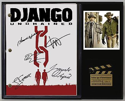 Django Unchained - Reprinted Autographed Movie Script Display - USA Ships Free