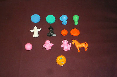 Vintage Diener Ind Pencil Topper Eraser Lot 12pcs+ Halloween Pumpkins Unicorn++