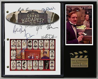 The Grand Budapest Hotel Reprinted Autograph Movie Script Display USA Ships Free