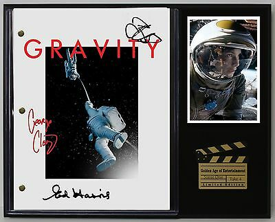 Gravity - Reprinted Autograph Movie Script Display - USA Ships Free Priority