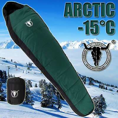 -15℃ Outdoor Camping Hiking Thermal Sleeping Bag Hooded Winter Tent