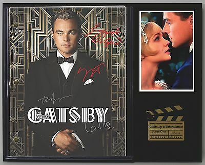 The Great Gatsby - Reprinted Autographed Movie Script Display - USA Ships Free