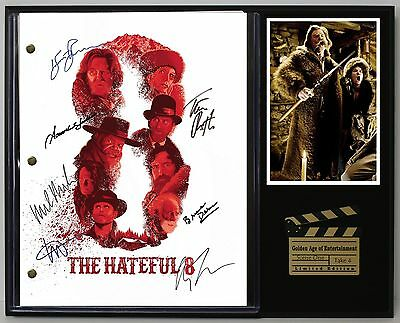 The Hateful 8 - Reprinted Autograph Movie Script Display - USA Ships Free
