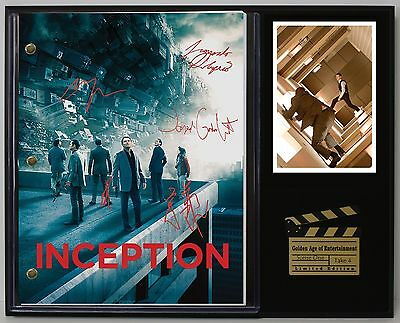 Inception - Reprinted Autograph Movie Script Display - USA Ships Free Priority