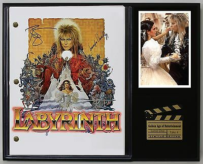 Labyrinth - Reprinted Autograph Movie Script Display - USA Ships Free