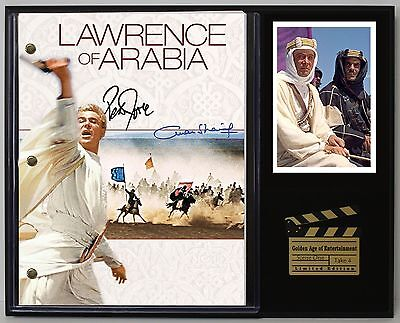 Lawrence of Arabia - Reprinted Autograph Movie Script Display - USA Ships Free