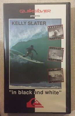 "QUIKSILVER Kelly Slater Tom Carrol ""In black and white"" Surfing  VHS video 1991"