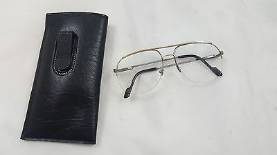 Vintage Gold Toned Ferrari Mens Glasses 58 15 140 Frame Italy F65 91L Used