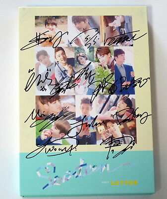 Seventeen autographed 2016 1st album FIRST Love & Letter CD Letter version 52016