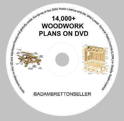 14000+ Woodwork Plans On Dvd - Shed Summer House Cabins Toys Rabbit Hutch + More