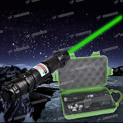 EU Charger+Professional 1mw 532nm 8000M Powerful Green Laser Pointer Pen set