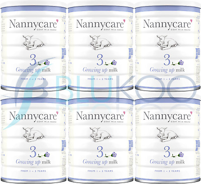 NANNYCare Stage 3 Growing Up Milk - 900g (Pack of 6)