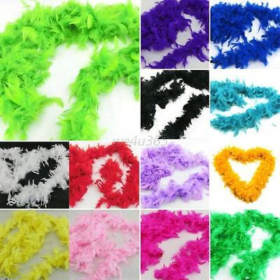 Multi-colors Feather Boas Hen Night Burlesque Fancy Dress Party Wedding Dressup
