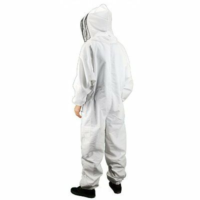 Brand New White Beekeepers Bee Keepers Suit With Fencing Veil - M,L,XXL,XXXL