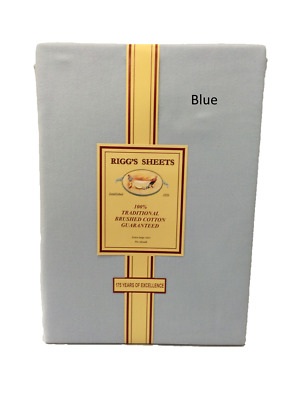 Riggs King Size Flat Sheet Brushed Cotton Flannelette / 100% Cotton