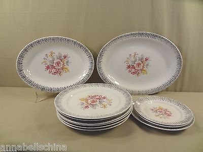 """Vintage W. S. George China """"GEO-450"""" Mixed Lot"""