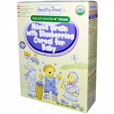Organic Mixed Grain with Blueberries Cereal for Baby, 180ml (170 g). Best Price