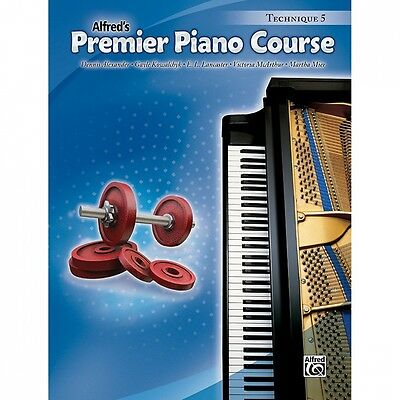 Alfred Premier Piano Course Technique Book 5. Shipping is Free
