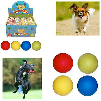 1,3,5 Dogs Play Ball Pets Fetch Training Exercise Rubber Bouncy Balls Chew Throw